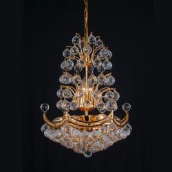 1082 Gold Cristall Chandlier