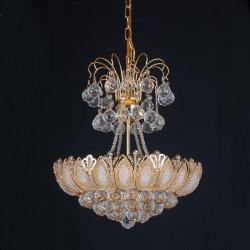 1068 Gold Cristall Chandlier
